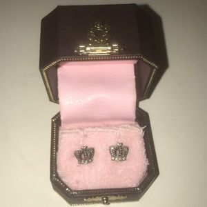 Juicy Couture signature crown earrings